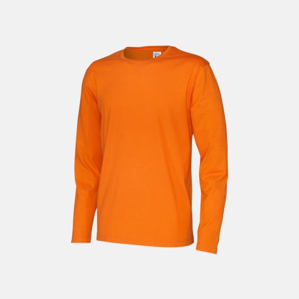Orange (herr) Långärmade eko t-shirts med reklamtryck