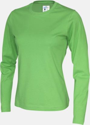 Grön (dam) Långärmade eko t-shirts med reklamtryck