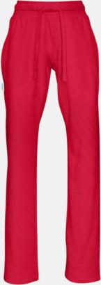 Röd (dam) Eko & Fairtrade mjukisbyxor med reklamtryck