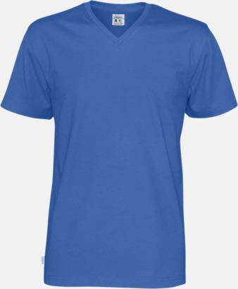 Royal (herr) Svanen- & Fairtrade-certifierade v-ringade t-shirts med reklamtryck