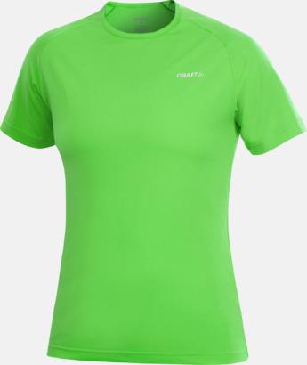Craft Green (dam) Funktion t-shirts från Craft med reklamtryck