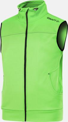 Craft Green (herr) Pullovervästar från Craft i herr- och dammodell med reklamtryck