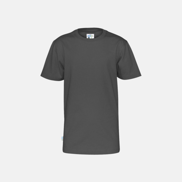 Charcoal (barn) Multicertifierade t-shirts med reklamtryck