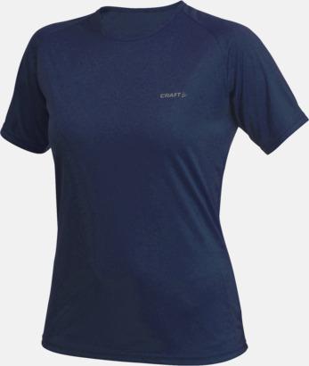 Navy (dam) Funktion t-shirts från Craft med reklamtryck