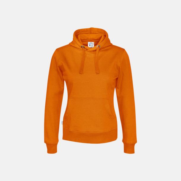 Orange (dam) Eko & Fairtrade huvtröjor med reklamtryck