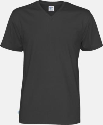 Svart (herr) Svanen- & Fairtrade-certifierade v-ringade t-shirts med reklamtryck