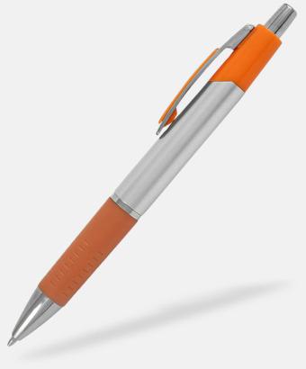 Orange Silverfärgade bläckpennor med reklamtryck