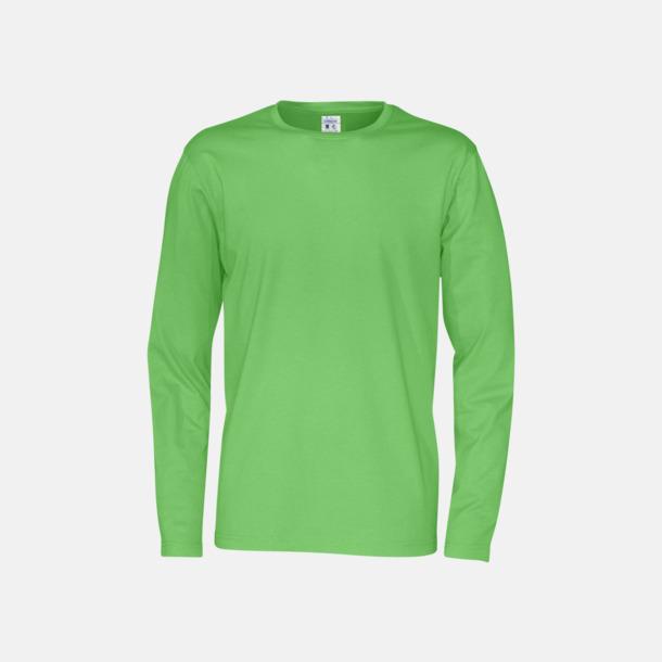 Grön (herr) Långärmade eko t-shirts med reklamtryck