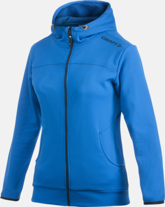Sweden Blue Leisure Full Zip Hood (dam) Craft funktionsjacka med huva i herr- och dammodell med reklamtryck