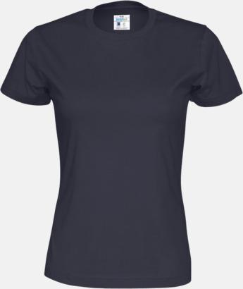 Marinblå (dam) Multicertifierade t-shirts med reklamtryck