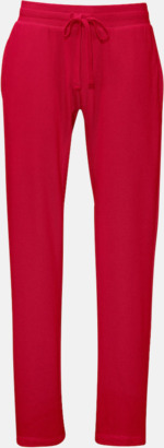 Röd (herr) Eko & Fairtrade mjukisbyxor med reklamtryck