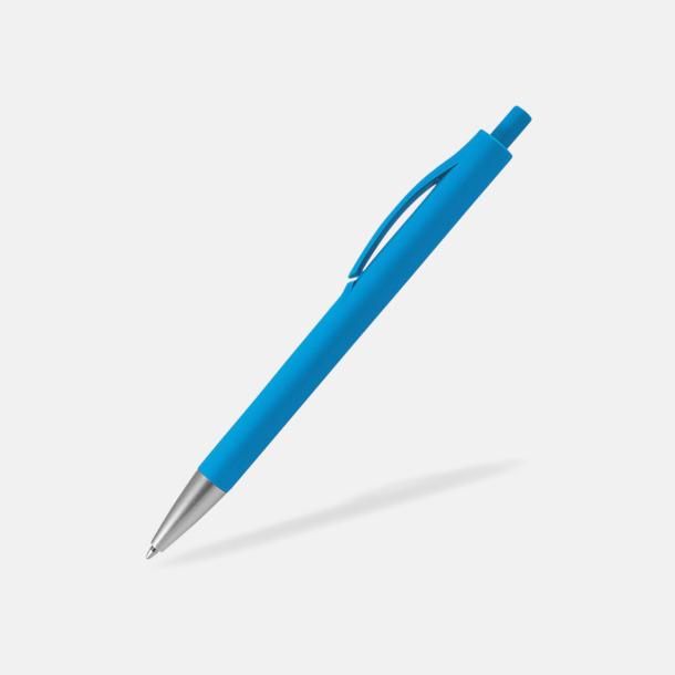 Ljusblå Bläckpennor med reklamtryck