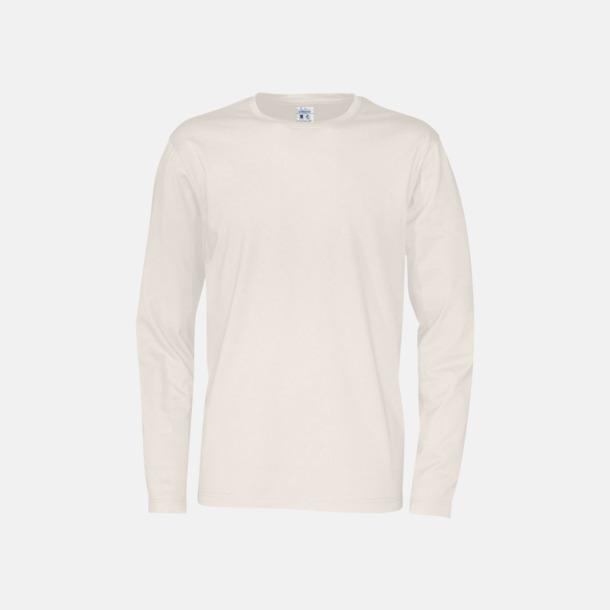 Offwhite (herr) Långärmade eko t-shirts med reklamtryck