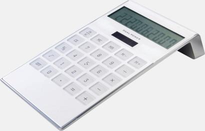 Vit Miniräknare från BIC med reklamtryck