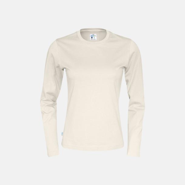 Offwhite (dam) Långärmade eko t-shirts med reklamtryck