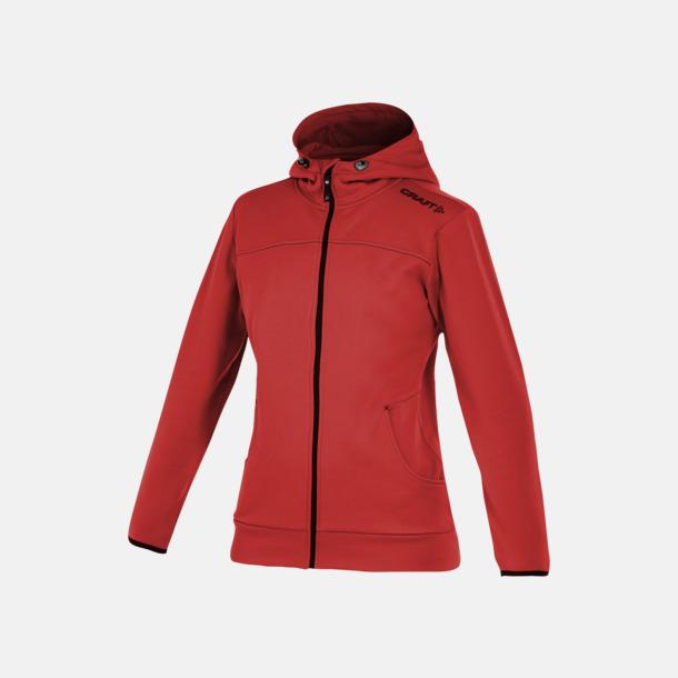 Bright Red Leisure Full Zip Hood (dam) Craft funktionsjacka med huva i herr- och dammodell med reklamtryck