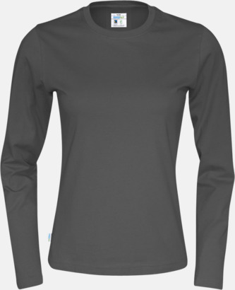 Charcoal (dam) Långärmade eko t-shirts med reklamtryck