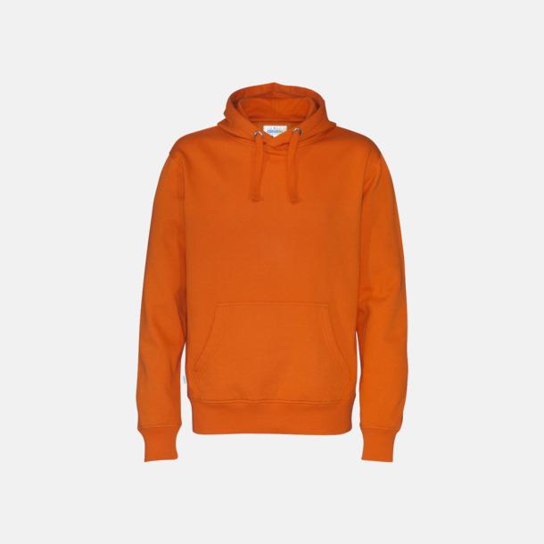 Orange (herr) Eko & Fairtrade huvtröjor med reklamtryck