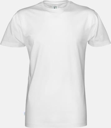 Vit (herr) Multicertifierade t-shirts med reklamtryck