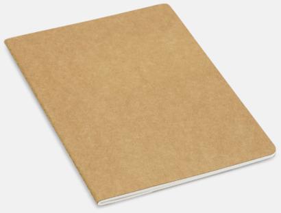 Natur Eko skrivblock med linjerade blad - med reklamtryck