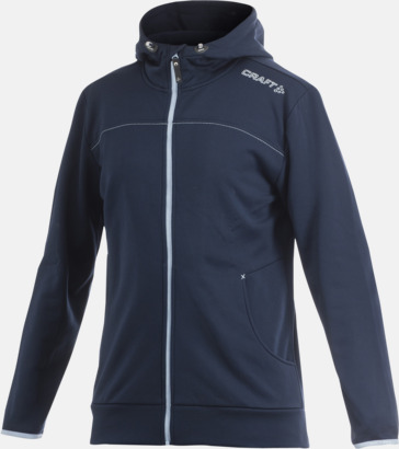 Dark Navy Leisure Full Zip Hood (herr) Craft funktionsjacka med huva i herr- och dammodell med reklamtryck