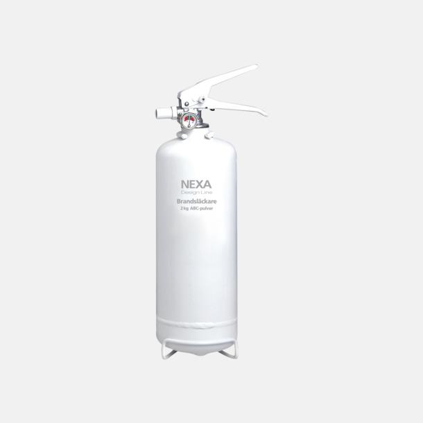 Vit (2 kg) Brandsläckare i två storlekar från Design Line-serien