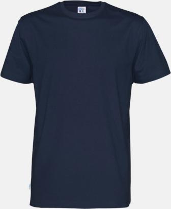 Marinblå (herr) Multicertifierade t-shirts med reklamtryck