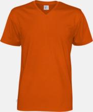 Svanen- & Fairtrade-certifierade v-ringade t-shirts med reklamtryck