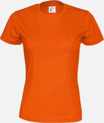 Orange (dam) Multicertifierade t-shirts med reklamtryck