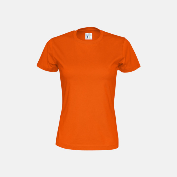 Orange (dam) Multicertifierade t-shirts med reklamtryck