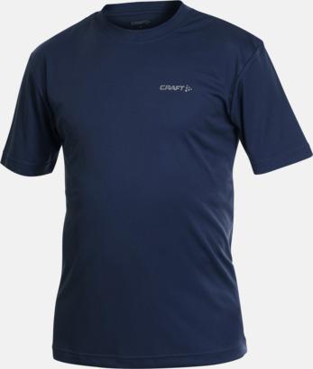 Navy (herr) Funktion t-shirts från Craft med reklamtryck