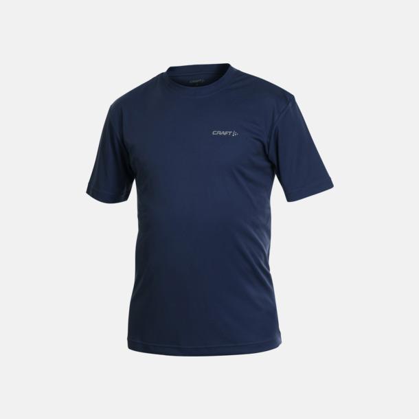 Marinblå (herr) Funktion t-shirts från Craft med reklamtryck