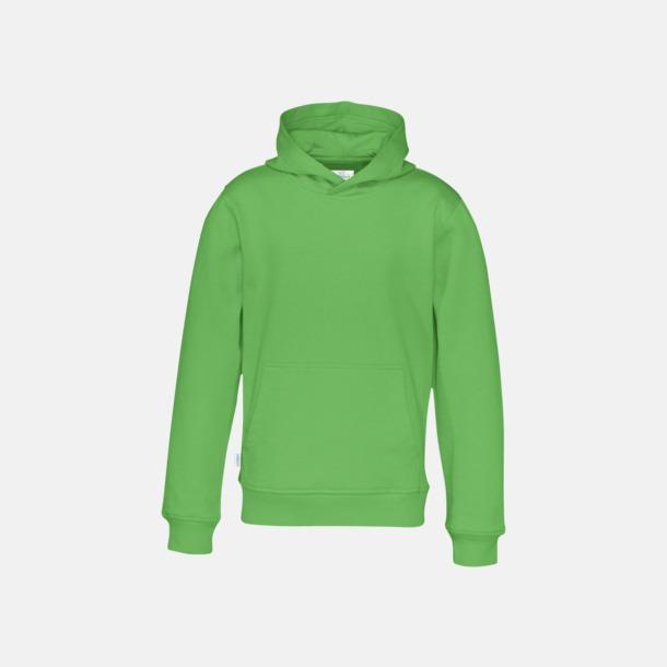 Grön (barn) Eko & Fairtrade huvtröjor med reklamtryck