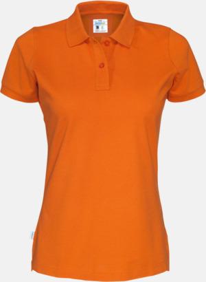Orange (dam) Eko & Fairtrade pikéer med reklamtryck
