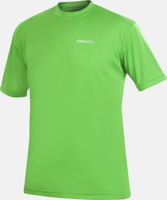 Craft Green (herr) Funktion t-shirts från Craft med reklamtryck