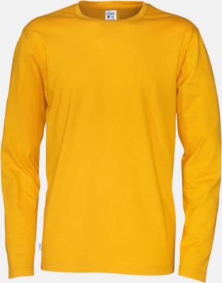 Gul (herr) Långärmade eko t-shirts med reklamtryck