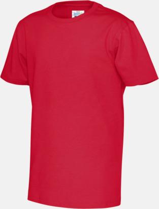 Röd (barn) Multicertifierade t-shirts med reklamtryck