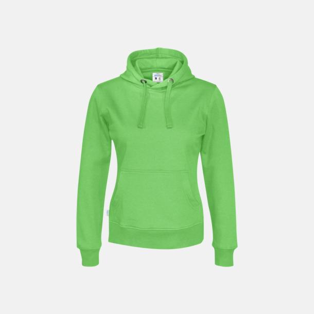 Grön (dam) Eko & Fairtrade huvtröjor med reklamtryck