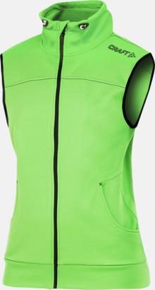 Craft Green (dam) Pullovervästar från Craft i herr- och dammodell med reklamtryck