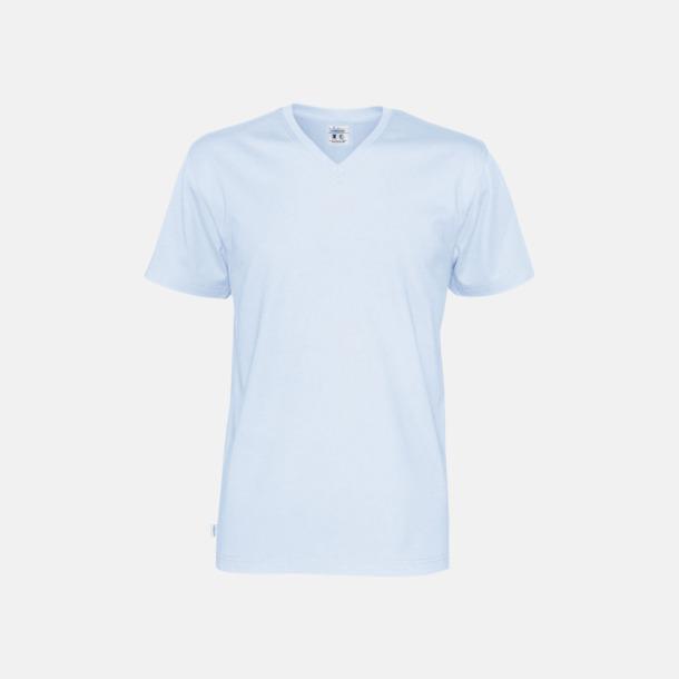 Sky (herr) Svanen- & Fairtrade-certifierade v-ringade t-shirts med reklamtryck