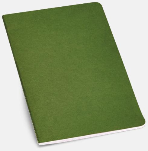Grön A5-ekohäften i flera färger med reklamtryck