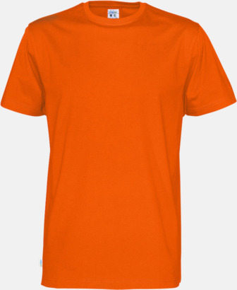 Orange (herr) Multicertifierade t-shirts med reklamtryck