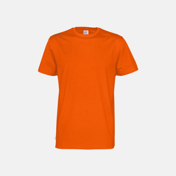 Orange (herr) Multicertifierade t-shirts med reklamtryck