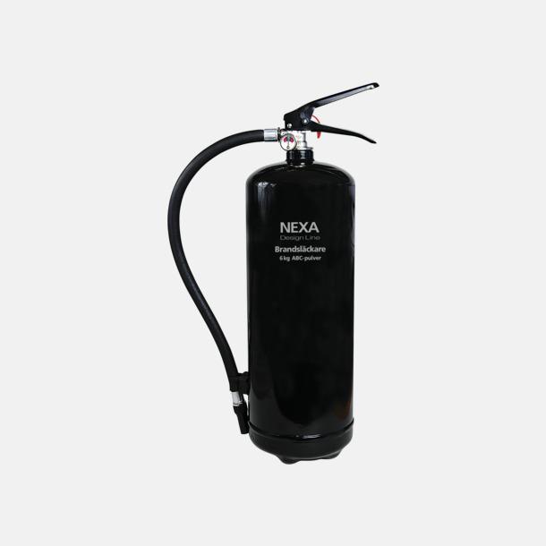 Svart (6 kg) Brandsläckare i två storlekar från Design Line-serien