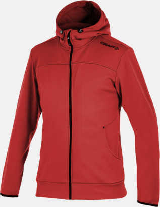 Bright Red Leisure Full Zip Hood (herr) Craft funktionsjacka med huva i herr- och dammodell med reklamtryck