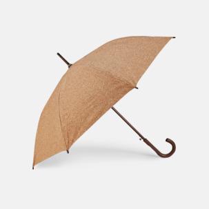 Eko-paraplyer med korkpaneler med reklamtryck