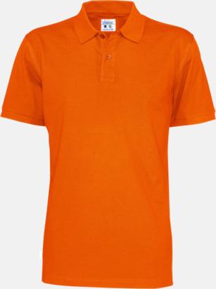 Orange (herr) Eko & Fairtrade pikéer med reklamtryck