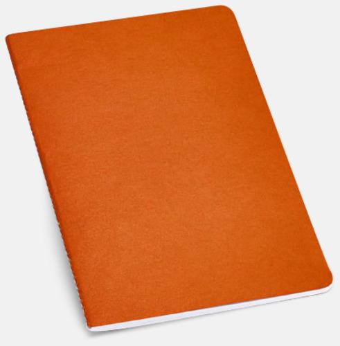 Orange A5-ekohäften i flera färger med reklamtryck