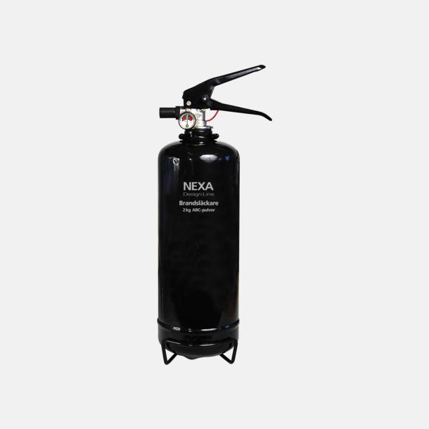 Svart (2 kg) Brandsläckare i två storlekar från Design Line-serien