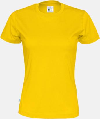 Gul (dam) Multicertifierade t-shirts med reklamtryck